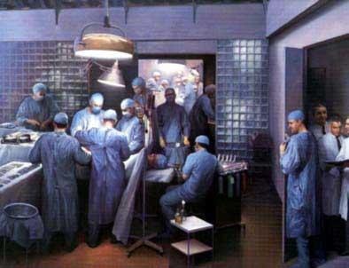 La greffe des frères Herricks, effectuée en 1954 à Boston, a été immortalisée par l'artiste Joel Babb. Cette oeuvre est actuellement exposée à la Faculté d'Harvard.